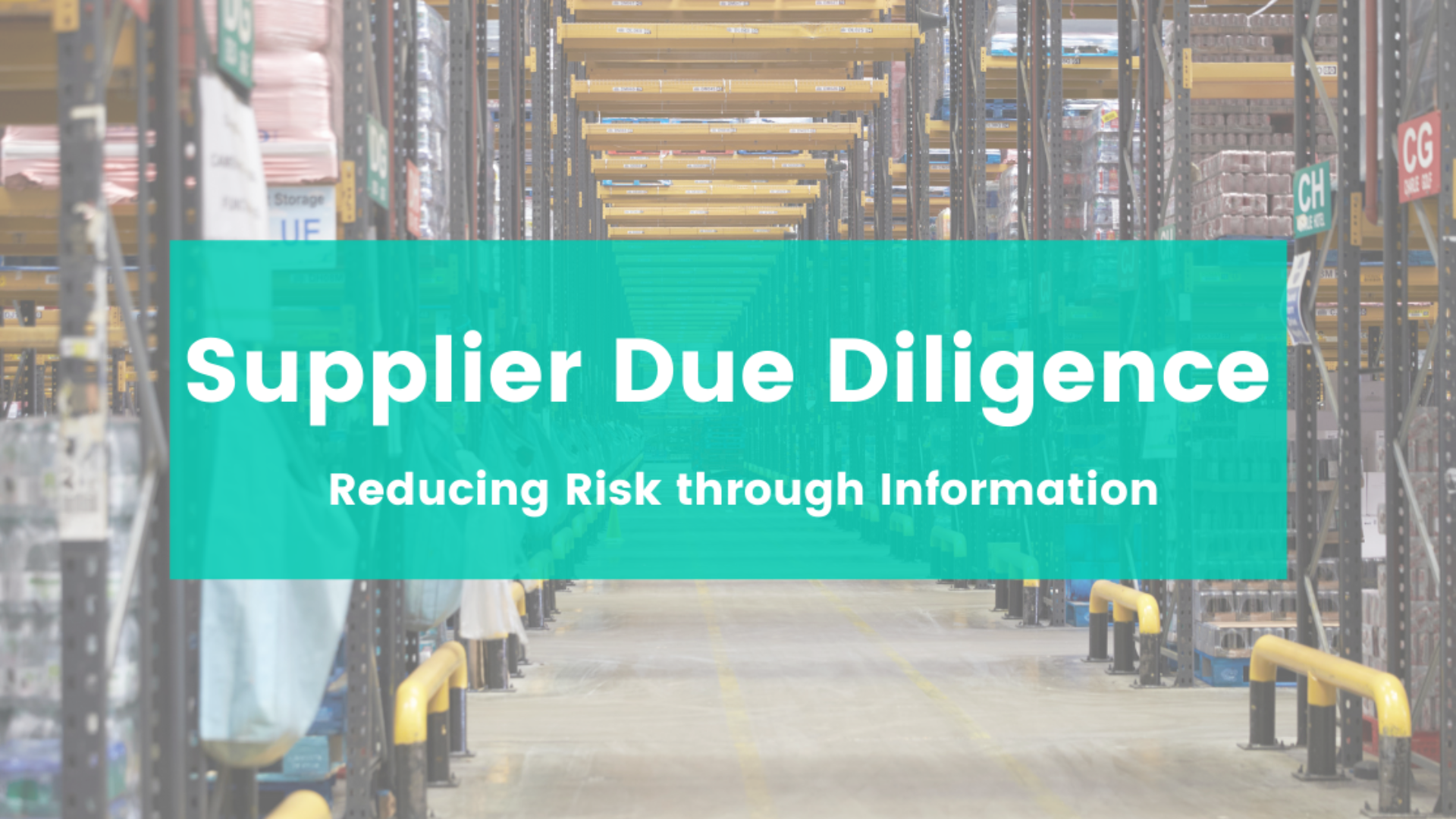 Supplier Due Diligence Small