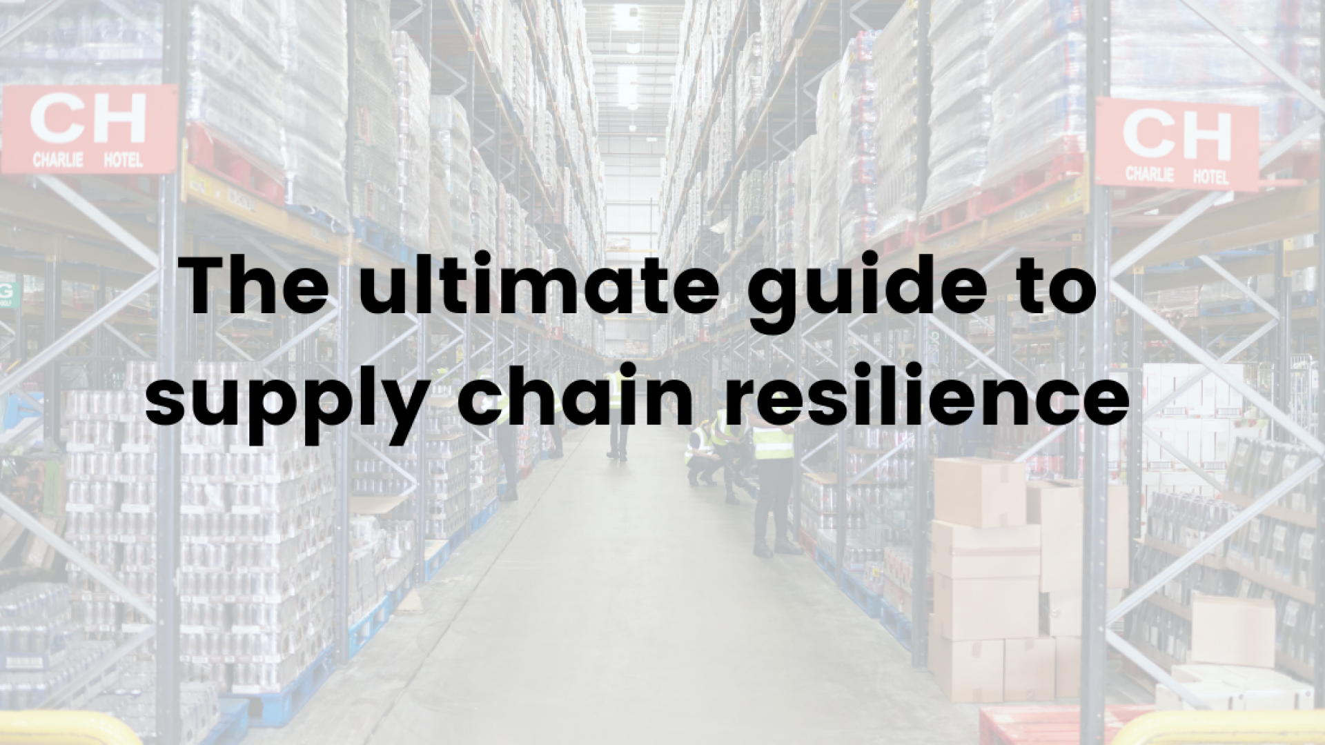 The ultimate guide to supply chain resilience small